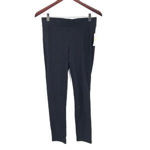 NEW Thalia Sodi Leggings solid black skinny mid rise pants Black S women's